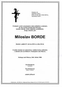 Babouci - nejstarší jihočeská dechovka  - Zemřel Miloslav Borde