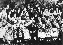 Jouzíci na slavnosti Pošumavské jednoty v Mičovicích roku 1900